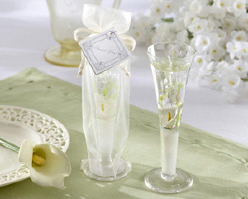Kerze im Sektglas Elegance Wedding