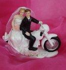 """Tortenaufsteller Brautpaar """"Motorrad"""""""